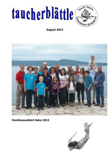 Taucherblättle August 2013 - TTSG