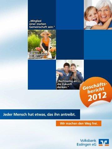 Geschäftsberichtes - Volksbank Esslingen eG