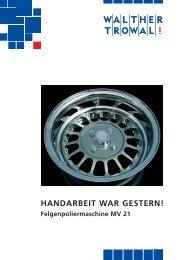 HANDARBEIT WAR GESTERN! - Walther Trowal