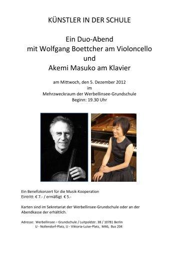 KÜNSTLER IN DER SCHULE Ein Duo-Abend mit Wolfgang ...
