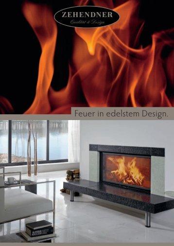 Feuer in edelstem Design. - Zehendner Keramik GmbH