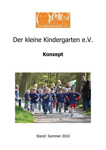 Anmeldeunterlagen minigruppe der kleine kindergarten ev for Konzept kindergarten
