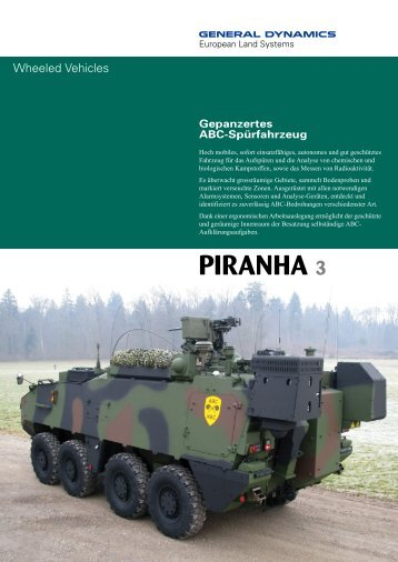 PIRANHA 3 - GENERAL DYNAMICS - European Land Systems