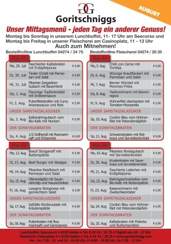 Mittagskarte (PDF) - Goritschniggs