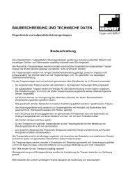 baubeschreibung und technische daten - Herwert -Treppen