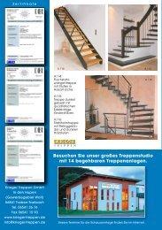 Prospekt moderne Treppentrends - Krieger Treppen GmbH