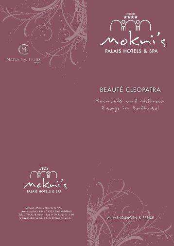 und Wellness-Etage Beauté Cleopatra im Badhotel - Mokni´s Palais ...