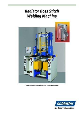 Radiator Boss Stitch Welding Machine - Schlatter