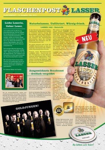 Flaschenpost 2013 - Brauerei Lasser GmbH
