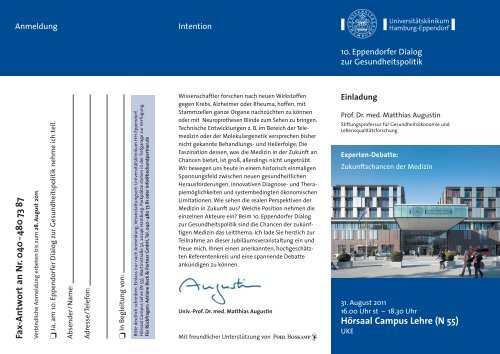 Flyer - Universitätsklinikum Hamburg-Eppendorf