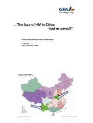 """"""" The face of HIV in China - lost or saved?"""""""