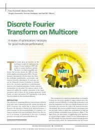 Discrete Fourier Transform on Multicore - Electrical and Computer ...
