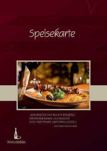 Komplette Speisekarte für unser Restaurant in Tuttlingen - Vinzenz ...