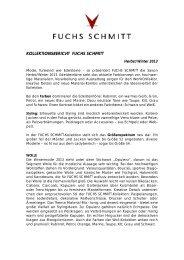 KOLLEKTIONSBERICHT F.S.-FUCHS & SCHMITT
