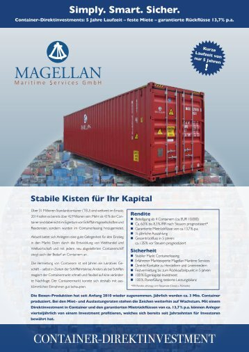 Container-Direktinvestment
