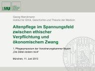 Altenpflege im Spannungsfeld zwischen ethischer Verpflichtung und ...