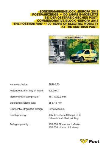 Europa 2013 - Postfahrzeuge