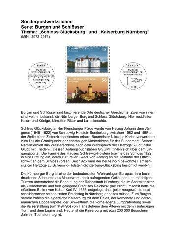Sonderpostwertzeichen Serie: Burgen und Schlösser Thema ...
