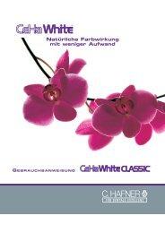 Gebrauchsanweisung CehaWHITE Classic - C. Hafner