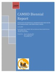 CAMHD Biennial Report - State of Hawaii