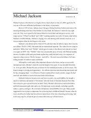Michael Jackson WORKSHEET A - Inside Out