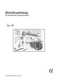Betriebsanleitung für automatische ... - bei Berner Torantriebe
