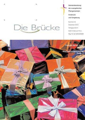 Nr. 40, Dezember 2010 - Evangelische Pfarrgemeinde Innsbruck ...