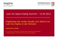 """Lean Six Sigma""? - inspire - ETH Zürich"