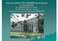 THE BUCHAREST FN-TANDEM electrostatic - Institute of Nuclear ...