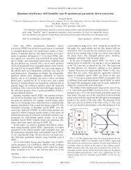 Quantum interference with beamlike type-II spontaneous parametric ...