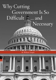 Why Cutting Government Is so difficult ... and necessary - InsiderOnline
