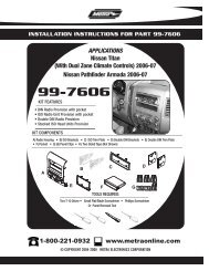 APPLICATIONS Nissan Titan (With Dual Zone ... - Installer.com