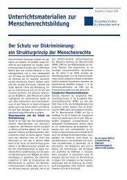 Schutz vor Diskriminierung - Deutsches Institut für Menschenrechte
