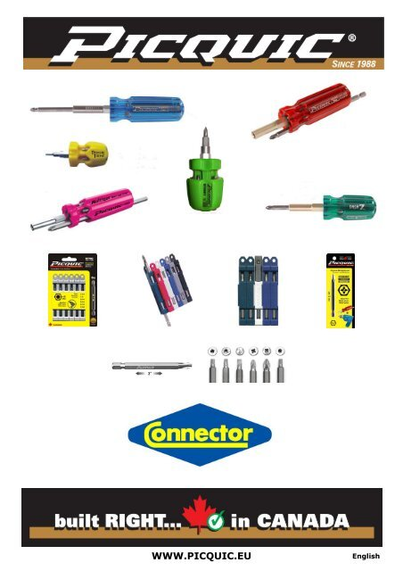 picquic catalog english - Connector BV