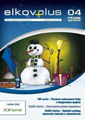 Firemní časopis ELKOVPLUS 4/2013