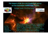 The impact of the Herschel Gould Belt survey on star ... - ESO