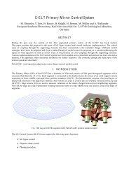E-ELT Primary Mirror Control System - ESO