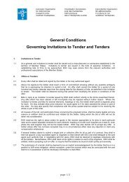 General Conditions Tender Invitation - ESO