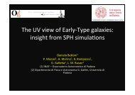 The UV view of Early-‐Type galaxies: insight from SPH ... - ESO