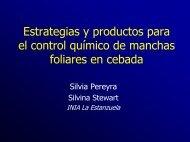 Estrategias y productos para el control químico - Inia