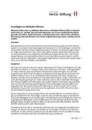 Grundlagen zur Multiplen Sklerose - Hertie Stiftung