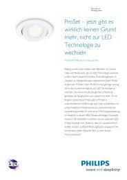 Product Familiy Leaflet: ProSet RS110B starrer Einbaustrahler