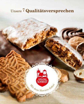 Unsere 7 Qualitätsversprechen - Lebkuchen Schmidt