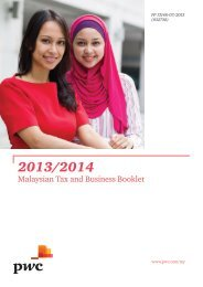 2013/2014 Malaysian Tax and Business Booklet - PwC