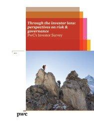 PwC's 2013 Investor Survey