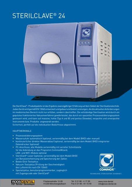 STERILCLAVE® 24 - Roos Dental
