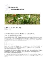 Konti-Letter Nr. 23 - Verein für Kontemplation und Meditation eV