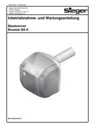 Inbetriebnahme- und Wartungsanleitung Blaubrenner Bluestar BS K
