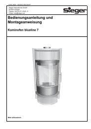 Bedienungsanleitung und Montageanweisung - Sieger Heizsysteme ...