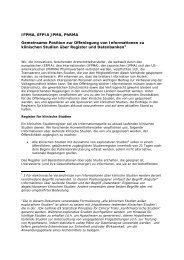 IFPMA, EFPIA JPMA, PhRMA Gemeinsame Position zur ... - VfA